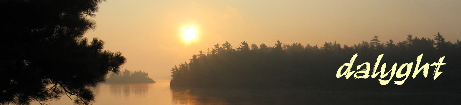 Sunrise on Ox Bay, French River